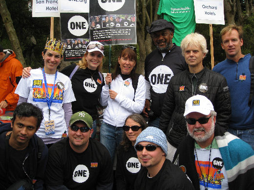 ONE San Francisco Bay Area members walk at AIDS Walk SF in July 2008